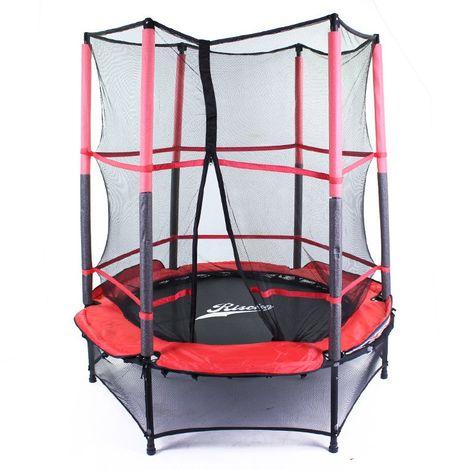 Cama elástica con red protectora 1,4 m de diámetro y 155 cm de altura7105c 7105C
