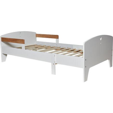 Cama Infantil evolutiva 90X140/170/200 CM, Color Blanco