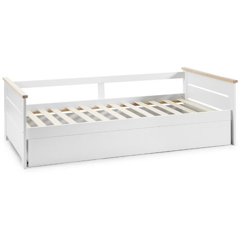 Cama Nido Juvenil ALENKA 90X190. Color Blanco. Dimensiones: 199cm (Largo). 105cm (Ancho) y 62cm (Alto)