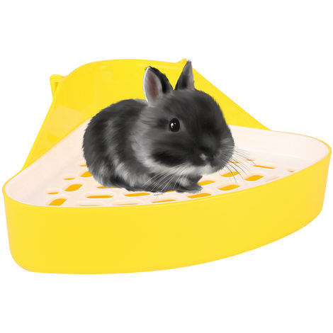 Cama para animales Orinal Esquina Aseo lecho de paja caja de Pan para mascotas conejo bebe Chinchilla Pequeno Conejillos de Indias Ferret, Azul