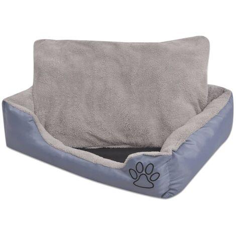 Cama para perro con cojín acolchado talla XXL gris