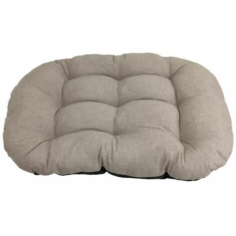 Cama para Perro Grande. Sofa Redondo Acolchado Confortable de Color Gris Para Mascota. 120x95cm