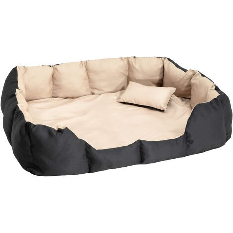 Cama para perros de poliéster - colchón para perros, sofá para mascotas con almohada, cuna mullida para perros con cojín