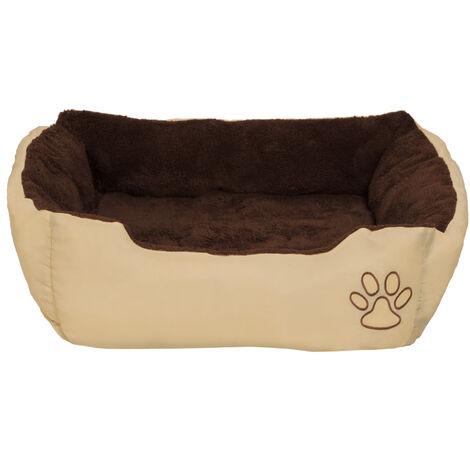 Cama para perros Foxi de poliéster - colchón para perros, sofá para mascotas con almohada, cuna mullida para perros