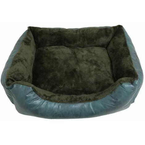 Cama para Perros. Sofá Pelo Interior Acolchado de Color Azul Verdoso para Mascotas Medianas. 80x60cm