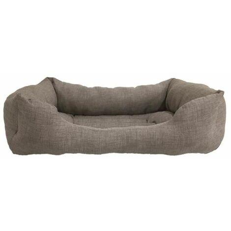 Cama para Perros. Sofá Rectangular con Bordes Laterales Gris Oscura Para Perros Pequeños. 60x45 cm