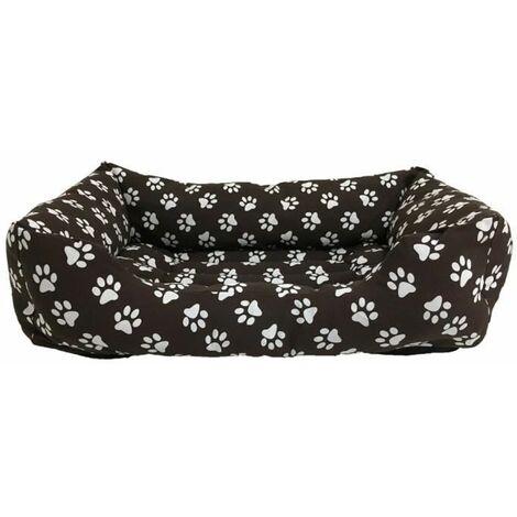 Cama para Perros. Sofá Rectangular con Estampado de Huellas para Mascotas Medianas. 80x60cm