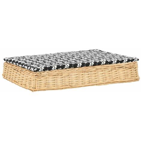 Cama para perros y cojin sauce natural diseno plano 95x65x15 cm