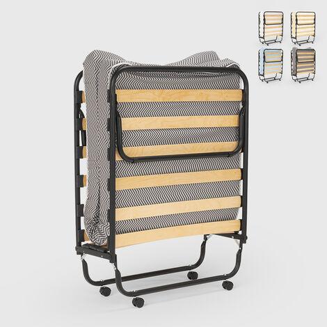 Cama plegable con colchón y somier de microfibra 80x180cm Apollo