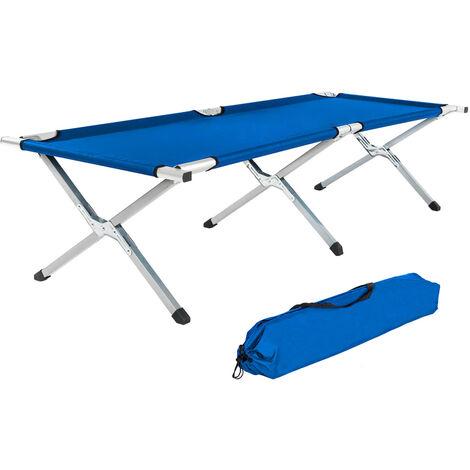 Cama portátil de aluminio - camilla plegable estable, camilla con estructura metálica y lona de poliéster, cama para camping con bolsa de transporte