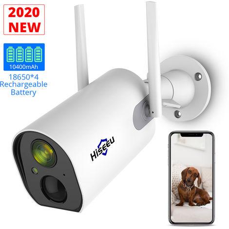Camara Bateria recargable de seguridad inalambrica, WiFi Camara de Vigilancia