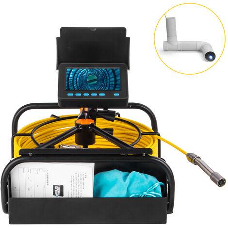 """main image of """"Camara de endoscopio industrial con pantalla LCD a color de 4.3 pulgadas Camara de inspeccion de serpiente de 17 mm Camara de tuberia de alcantarillado de drenaje impermeable con 6 luces LED ajustables Cable de 20 m"""""""