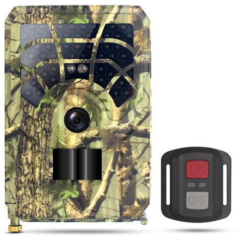 Camara de juego y rastro WiFi de 24MP 1296P, camara de caza activada por movimiento, camara de exploracion de vida silvestre al aire libre