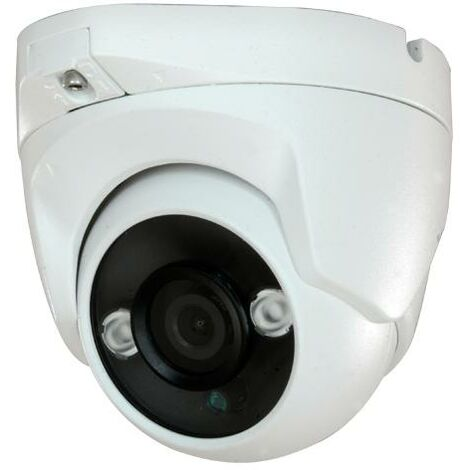 Camara de seguridad DOMO 3,6mm 1080P HDCVI IR Impermeable IP66 Color blanco