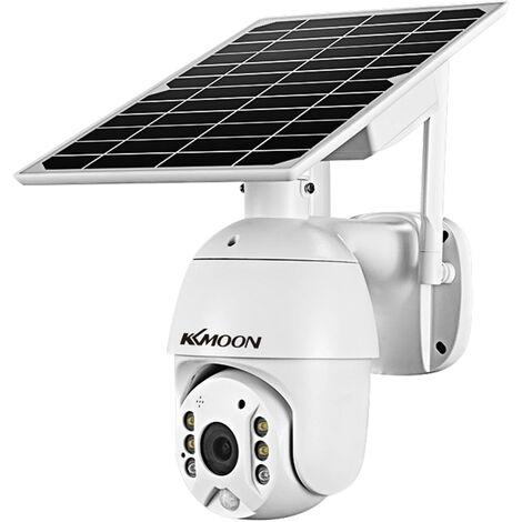Camara de seguridad para exteriores 1080P Full HD, camara de vigilancia con bateria solar 4G, IP66 a prueba de agua, version para la UE