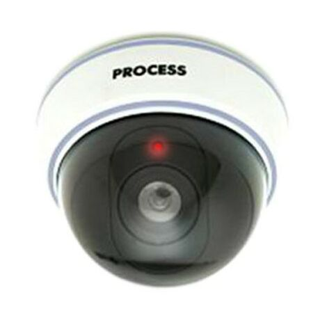 Camara de seguridad simulada domo con LED Simula una cámara grabando