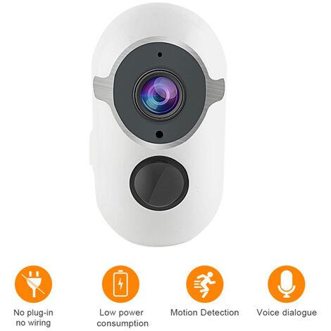 Cámara de vigilancia, cámara de seguridad solar inalámbrica 1080P HD