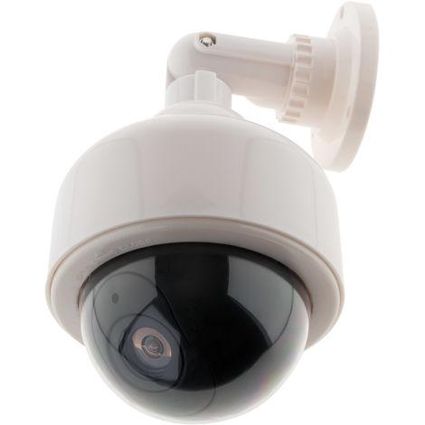 Cámara de vigilancia falsa de exterior con luz LED parpadeante - Otio
