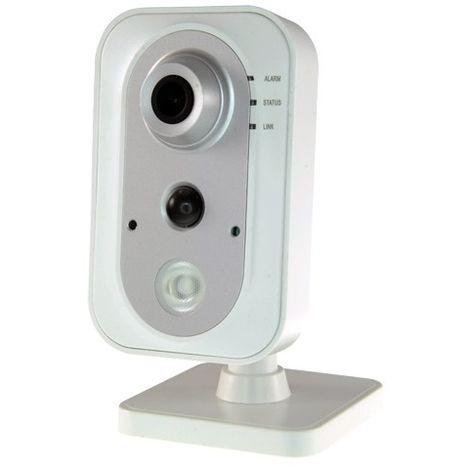 Cámara IP Wifi Cubo 2Mpx, ONVIF, óptica fija 2.8mm, interior. Visión nocturna 10m y audio incorporado.PoE