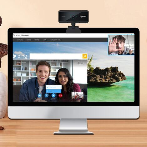 Cámara web Full HD Mini cámara de computadora 1080P cámara web Cámara de computadora de computadora de enfoque automático de 5 millones de píxeles para conferencia, video llamada