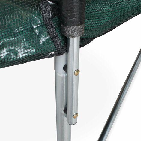 Colocación de los postes verticales y de la red de seguridad