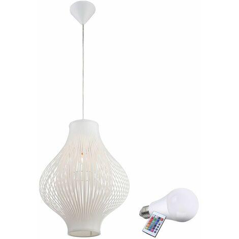 cambiadores de color de la lámpara colgante RGB LED 7W Iluminación Dimmer control remoto colgante