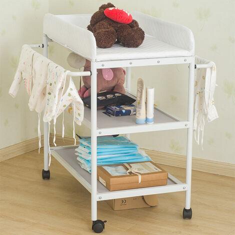 Cambiar el pañal mesa mesa de vestir bebé con Bolsa de Almacenamiento Cambiador bebé cambiador 84x72x90cm