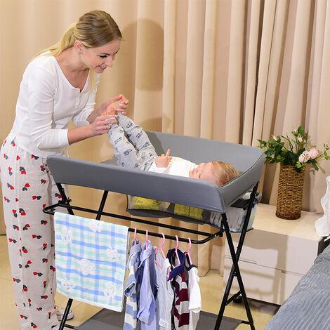Cambiar el pañal mesa plegable mesa de vestir bebé con Bolsa de Almacenamiento Cambiador