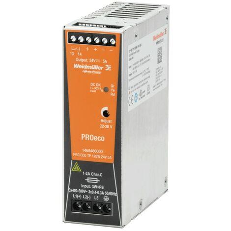 Cambiar la fuente de alimentación Weidmuller PRO ECO 120W 24v dc 5A 1469480000