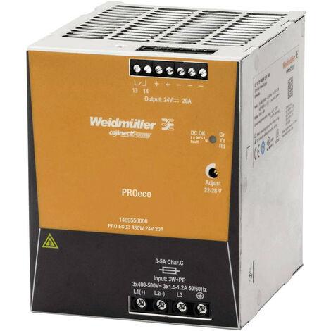 Cambiar la fuente de alimentación Weidmuller PRO ECO 480W 24VDC 20A 1469550000