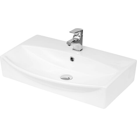 Cambra 600mm x 400mm Rectangular Wall Hung Basin with 1 Tap Hole