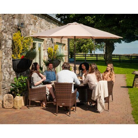 """main image of """"Cambridge 6 Chairs and Large Round Table Set (various colours)"""""""