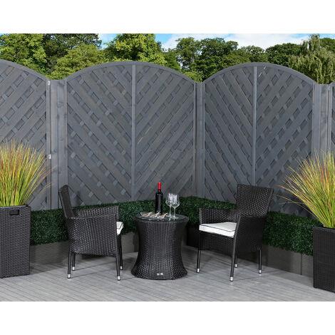 Pleasant Cambridge Rattan Garden Bistro Round Set In Black And Beutiful Home Inspiration Aditmahrainfo