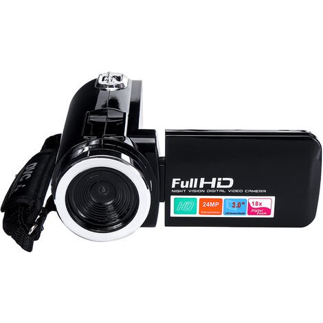 Camcorder Video Camera for YouTube 4K Full HD 24MP 18X Digital Zoom Camcorder with Microphone 3.0 inch IPS Touch Screen WASHED