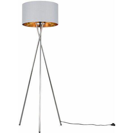 Camden Chrome Tripod Floor Lamp