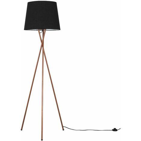 Camden Copper Tripod Floor Lamp - Beige - Copper