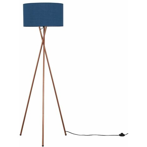 Camden Copper Tripod Floor Lamp - Cool Grey - Copper