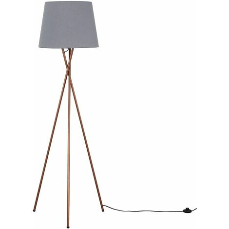 Camden Copper Tripod Floor Lamp - Grey - Copper