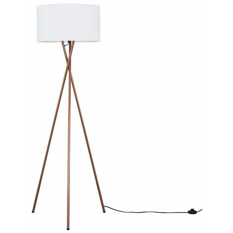 Camden Copper Tripod Floor Lamp + LED Bulb - Cool Grey