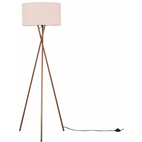 Camden Copper Tripod Floor Lamp + LED Bulb - Dark Grey - Copper