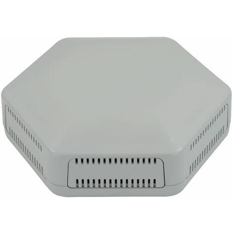 CamdenBoss CBHEX1-06-GY Hex-Box IoT Enclosure 6 Vented Panels Grey