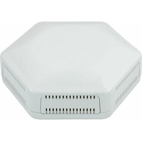 CamdenBoss CBHEX1-06-WH Hex-Box IoT Enclosure 6 Vented Panels White