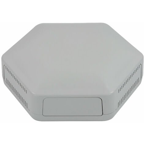 CamdenBoss CBHEX1-15-GY Hex-Box IoT Enclosure 1 Solid Panels and 5 Vented Grey