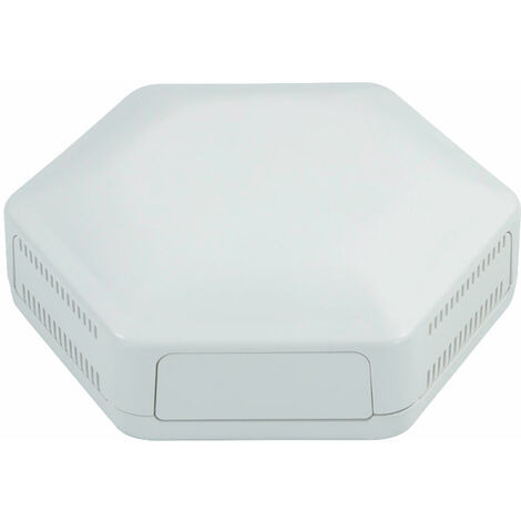 CamdenBoss CBHEX1-15-WH Hex-Box IoT Enclosure 1 Solid Panels and 5 Vented White