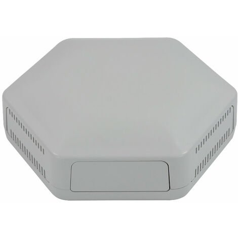 CamdenBoss CBHEX1-24-GY Hex-Box IoT Enclosure 2 Solid Panels and 4 Vented Grey