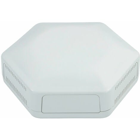 CamdenBoss CBHEX1-24-WH Hex-Box IoT Enclosure 2 Solid Panels and 4 Vented White