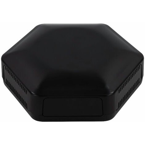 CamdenBoss CBHEX1-33-BK Hex-Box IoT Enclosure 3 Solid Panels and 3 Vented Black