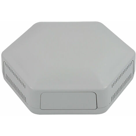CamdenBoss CBHEX1-33-GY Hex-Box IoT Enclosure 3 Solid Panels and 3 Vented Grey