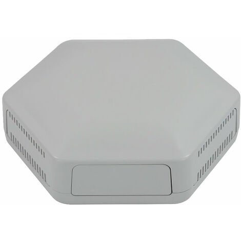 CamdenBoss CBHEX1-42-GY Hex-Box IoT Enclosure 4 Solid Panels and 2 Vented Grey