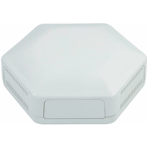 CamdenBoss CBHEX1-42-WH Hex-Box IoT Enclosure 4 Solid Panels and 2 Vented White